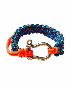 Bracelet sport cordes tressées avec manille