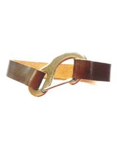 Bracelet cuir avec mousqueton