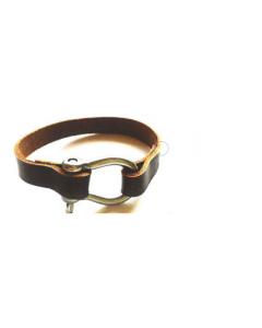 Bracelet cuir avec manille