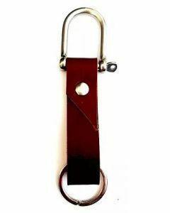 Porte-clés cuir avec manille