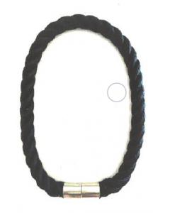 Collier corde tressé bleu navy