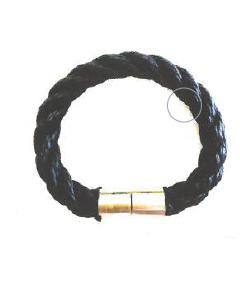 Bracelet corde tressé bleu navy