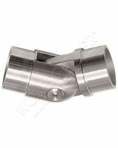 Raccord de main-courante inox orientable 90°/270°