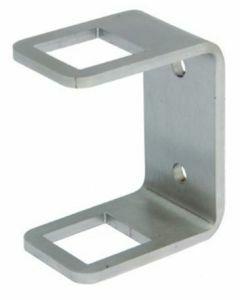 Fixation de poteau à l'anglaise inox pour tube carré