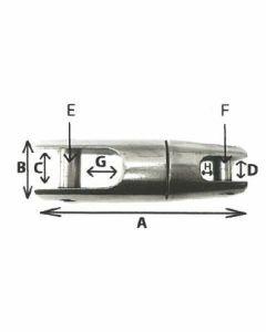 Jonction de chaîne pour ancre inox A4 HR