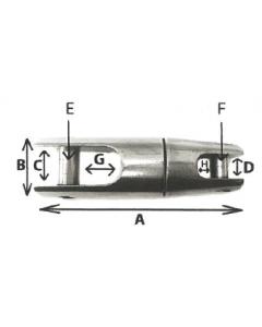 Jonction de chaine pour ancre A4