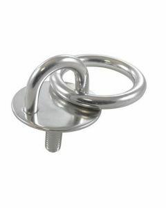 Pontet rond avec anneau et tige filetée A2