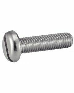 Vis à métaux tête cylindrique large fendue, part filetée