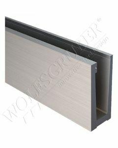 Profilé aluminium en U pour montage au sol