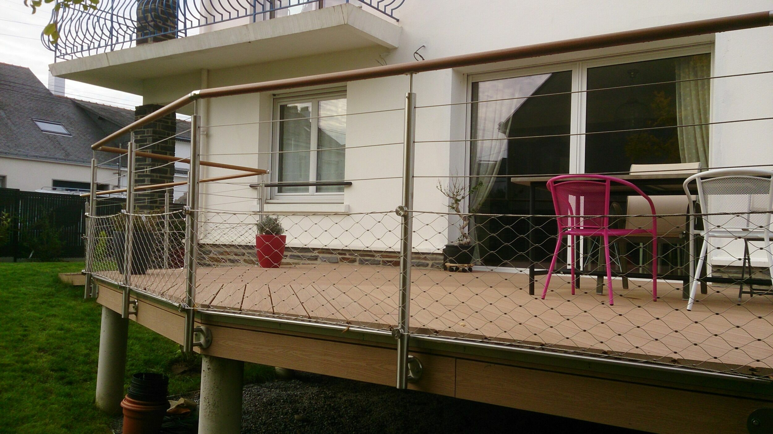 garde corps terrasse en filet inox tid inox. Black Bedroom Furniture Sets. Home Design Ideas