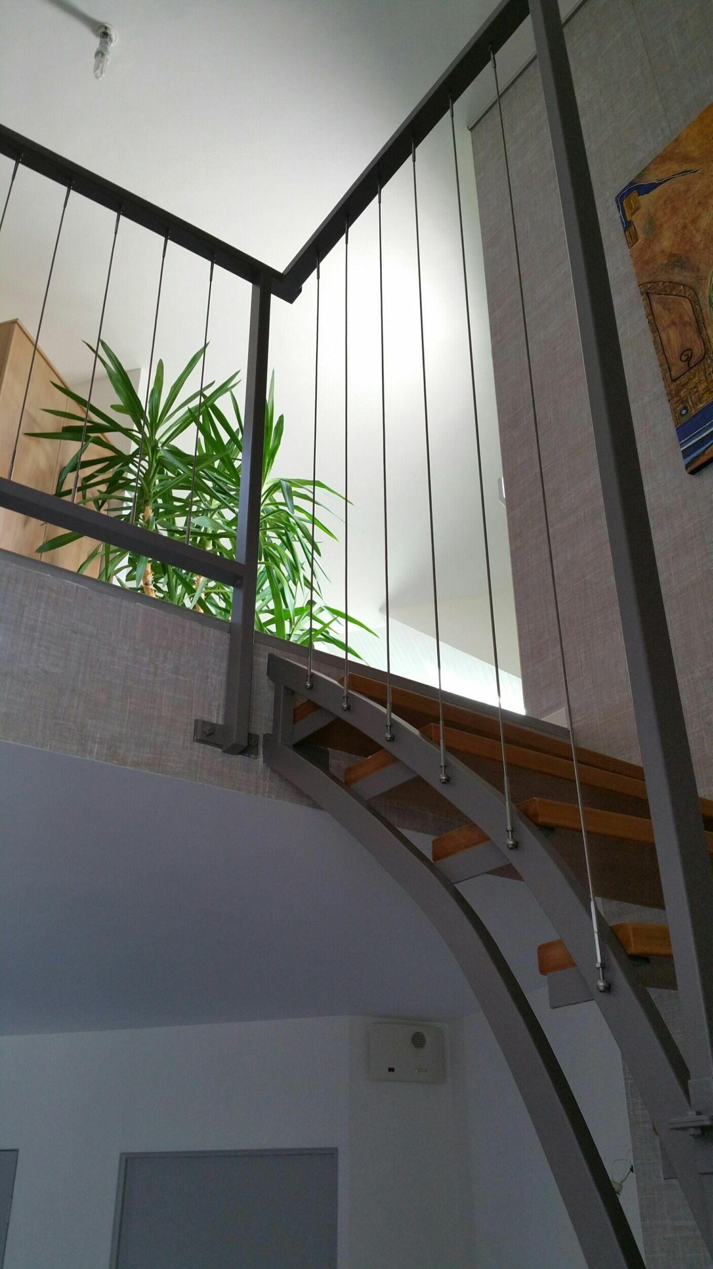 rampe escalier en c ble inox tid inox. Black Bedroom Furniture Sets. Home Design Ideas